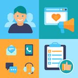 Vector flat customer experience concepts Stock Photo