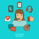 Vector flat customer service concept. Icons and infographic design elements - client experience Stock Photography