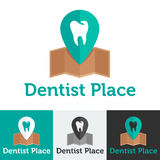 Vector flat dental clinic logo set Royalty Free Stock Image