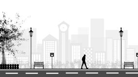 Vector flat design buildings pictograms Royalty Free Stock Photo
