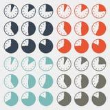 Vector Flat Design Clock Set Royalty Free Stock Images