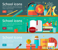 Vector flat design concepts of education vector illustration