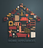 Vector flat design concepts home appliances icons Stock Photos