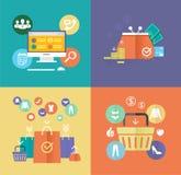 Vector flat design digital marketing concept card. Stock Images