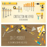 Vector flat design DIY and home renovation tools Royalty Free Stock Photography