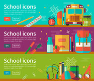 Vector flat design of education concepts Royalty Free Stock Images