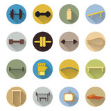 Vector of flat design icon fitness sport and health Stock Image