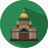 Vector Flat Design Icon of St. Isaac's Cathedral Royalty Free Stock Photo