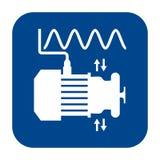Vector flat design icon of vibration analysis. royalty free illustration