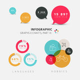 Vector flat design infographic elements Stock Image