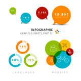 Vector flat design infographic elements Royalty Free Stock Photography