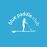 Vector flat design style illustration of stand up padlle club  Royalty Free Stock Photo