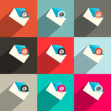 Vector Flat Design UI Email Icons Royalty Free Stock Photography