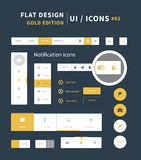 Vector flat design ui kit for webdesign Royalty Free Stock Photos