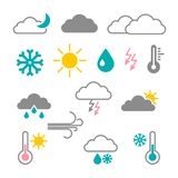 Vector Flat Design Weather Icons vector illustration