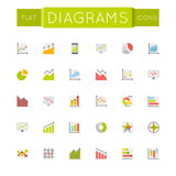 Vector Flat Diagrams Icons Royalty Free Stock Image