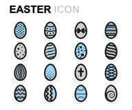 Vector flat easter icons set Stock Photography