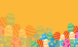 Vector flat of easter theme backgrounds Royalty Free Stock Image