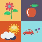 Vector Flat Eco Concept. Eco icons Royalty Free Stock Photo