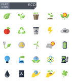 Vector flat eco icons set Stock Image