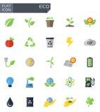 Vector flat eco icons set. Stock stock illustration