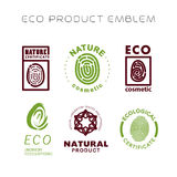 Vector flat eco product emblem set. Stock Photo