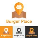 Vector flat fast food cafe logo set Stock Images