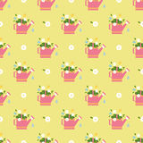 Vector flat flower vintages eamless  patterns Royalty Free Stock Images