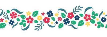 Vector flat flowers and berries background, creative color pattern. vector illustration