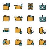 Vector flat folder icons set. On white background Royalty Free Stock Image