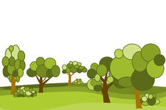 Vector flat forest Royalty Free Stock Image