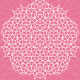 Vector flat geometric pink and white abstract background Stock Image