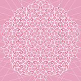 Vector flat geometric pink and white abstract background Royalty Free Stock Photography
