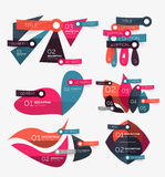 Vector flat geometric shape infographic Stock Photos