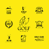 Vector flat golf logo design. Stock Image