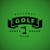 Vector flat golf logo design. Royalty Free Stock Photography