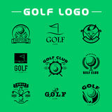 Vector flat golf logo design. Stock Images