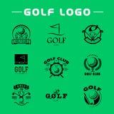 Vector flat golf logo design. Stock Images