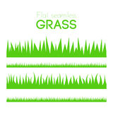 Vector flat grass set isolated on white background Stock Image