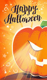 Vector flat halloween card, advertisement, banner, poster, placard, party invitation, flayer design. Royalty Free Stock Images
