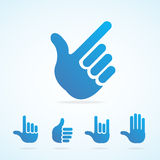 Vector flat hand icon set Royalty Free Stock Images
