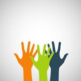 Vector flat hands icon color abstraction eps Royalty Free Stock Photos