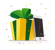 Vector flat happy new year and merry christmas tablet Stock Photos