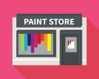 Vector flat hardware shop, paint store Stock Photos