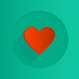 Vector flat heart icon Royalty Free Stock Photos