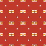 Vector flat hipster cameras seamless pattern Stock Photos