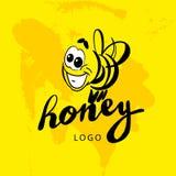 Vector flat honey logo. Stock Photography