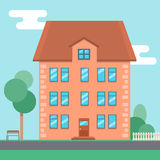 Vector flat house Royalty Free Stock Images