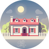 Vector flat house icon royalty free illustration