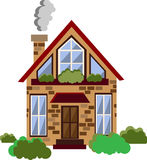 Vector flat house illustration Royalty Free Stock Photo